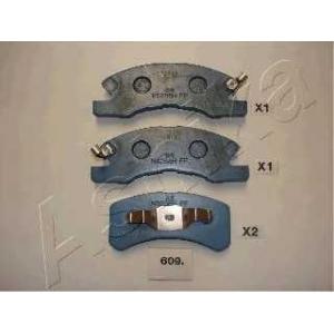 ASHIKA 50-06-609 Комплект тормозных колодок, дисковый тормоз Дайхатсу Тревис