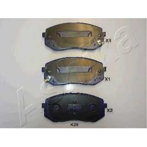 ASHIKA 50-0K-K20 Комплект тормозных колодок, дисковый тормоз Киа Каренс