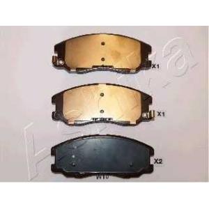 ASHIKA 50-0W-W10 Комплект тормозных колодок, дисковый тормоз Шевроле Каптива