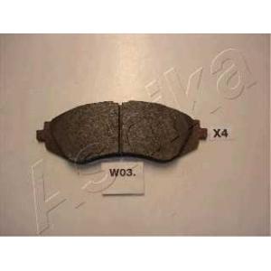ASHIKA 50-W0-003 Комплект тормозных колодок, дисковый тормоз Дэу Нубира