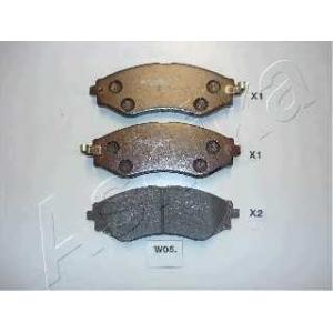 ASHIKA 50-W0-005 Комплект тормозных колодок, дисковый тормоз Дэу Нубира