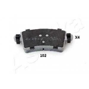ASHIKA 51-01-102 Комплект тормозных колодок, дисковый тормоз (пр-во ASHIKA)