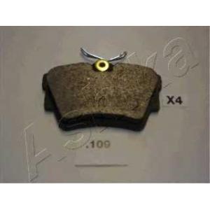 ASHIKA 51-01-109 Комплект тормозных колодок, дисковый тормоз (пр-во ASHIKA)