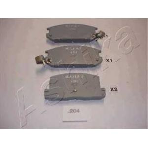 ASHIKA 51-02-204 Комплект тормозных колодок, дисковый тормоз (пр-во ASHIKA)