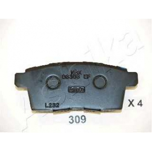 ASHIKA 51-03-309 Комплект тормозных колодок, дисковый тормоз Мазда Ц-Икс 7