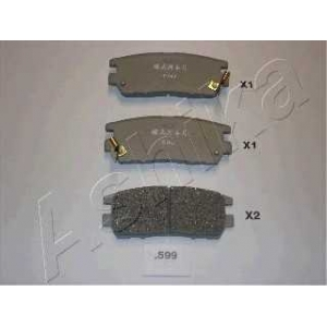 ASHIKA 51-05-599 Комплект тормозных колодок, дисковый тормоз Митсубиси Л 400