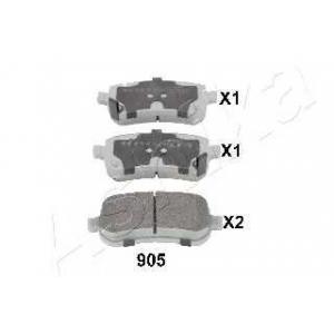 ASHIKA 51-09-905 Комплект тормозных колодок, дисковый тормоз Додж Нитро