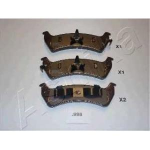 ASHIKA 51-09-998 Комплект тормозных колодок, дисковый тормоз Джип Чероки