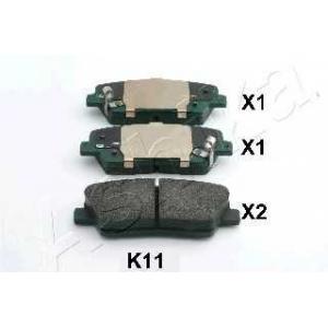 ASHIKA 51-0K-K11 Комплект тормозных колодок, дисковый тормоз Хюндай