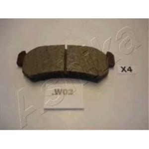 ASHIKA 51-0W-W02 Комплект тормозных колодок, дисковый тормоз Шевроле Нубира
