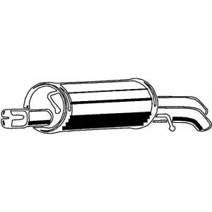 ASMET 04093 Глушитель выхлопных газов конечный