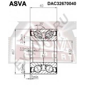 ASVA dac32670040 Подшипник ступичный задний