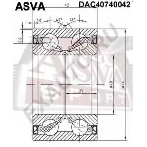 ASVA DAC40740042 ПОДШИПНИК СТУПИЧНЫЙ (40X74X42X42) (COROLLA AE100/EE100/CE100 1991-199)