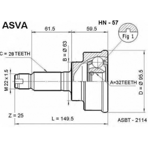 ASVA HN57 Запчасть