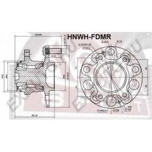 ASVA hnwh-fdmr Ступица задняя с магнитным кольцом абс
