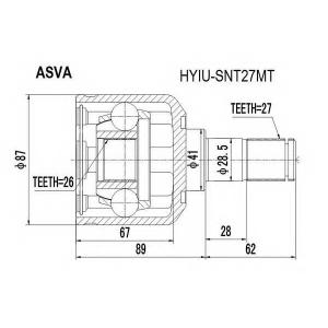 ASVA hyiu-snt27mt Шрус внутренний передний