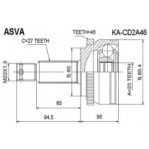 ASVA KACD2A46 Автозапчасть