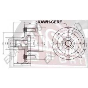 ASVA kawh-cerf Ступица передняя