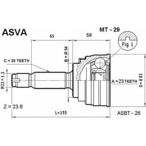 ASVA mt-29 Шрус внешний передний