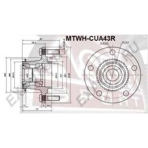 ASVA MTWH-CUA43R СТУПИЦА ЗАДНЯЯ 2WD (LANCER CS 2000-2009)