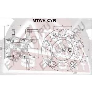 ASVA MTWH-CYR СТУПИЦА ЗАДНЯЯ (LANCER X CY 2006<)