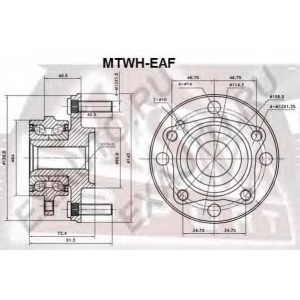 ASVA MTWH-EAF СТУПИЦА ПЕРЕДНЯЯ (GALANT 1992-1996 E52A)