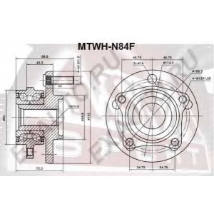 ASVA mtwh-n84f Ступица колеса переднего