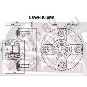 ASVA nswh-b10rs Ступица задняя