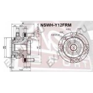 ASVA nswh-y12frm Ступица передняя с магнитным кольцом абс