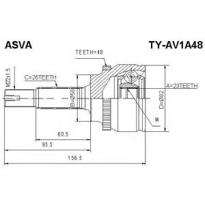 ASVA TY-AV1A48 ШРУС НАРУЖНЫЙ 23x58x26