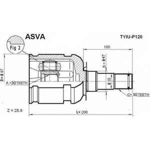 ASVA TYIU-P120 ШРУС ВНУТРЕННИЙ 30x47x30