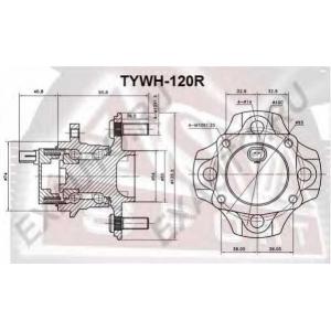 ASVA tywh-120r Ступица колеса заднего