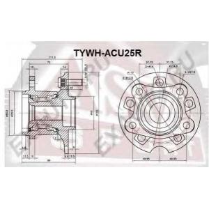 ASVA TYWH-ACU25R СТУПИЦА ЗАДНЯЯ (RX300 MCU35 2003-2006)