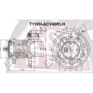 ASVA TYWH-ACV40RLH СТУПИЦА ЗАДНЯЯ ЛЕВАЯ С ДАТЧИКОМ АБС (CAMRY MCV30 2001-2006)