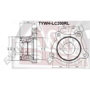 ASVA tywh-lc200rl Ступица задняя левая
