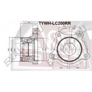 ASVA tywh-lc200rr Ступица задняя правая