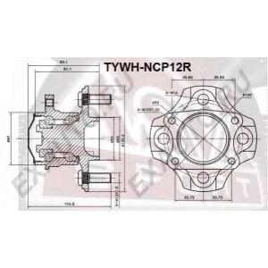ASVA TYWH-NCP12R СТУПИЦА ЗАДНЯЯ (YARIS NCP10 1999-2005)