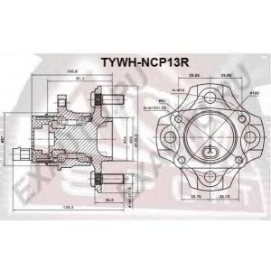 ASVA tywh-ncp13r Ступица задняя с датчиком абс