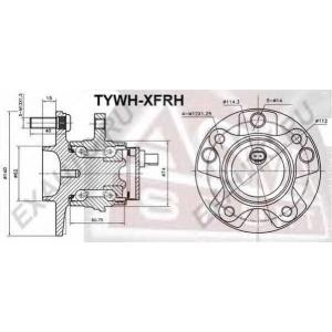 ASVA tywh-xfrh Ступица колеса переднего
