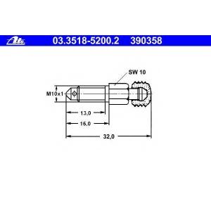 ATE 03351852002 Болт воздушного клапана / вентиль