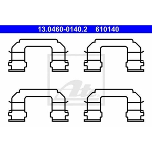 ATE 13.0460-0140.2 Комплектующие, колодки дискового тормоза Дэу Еванда