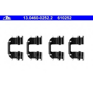 ATE 13.0460-0252.2 Комплектующие, колодки дискового тормоза Дэу Матиз