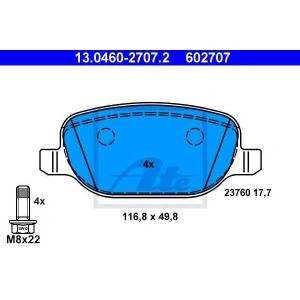 ATE 13.0460-2707.2 Комплект тормозных колодок, дисковый тормоз Лансия