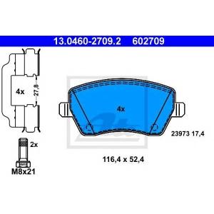 ATE 13.0460-2709.2 Комплект тормозных колодок, дисковый тормоз Дача Логан Mcb