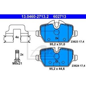 ATE 13.0460-2713.2 Комплект тормозных колодок, дисковый тормоз Мини