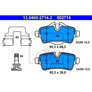 ATE 13.0460-2714.2 Комплект тормозных колодок, дисковый тормоз Мини