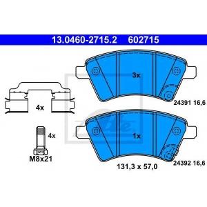 ATE 13.0460-2715.2 Комплект тормозных колодок, дисковый тормоз Фиат Седики