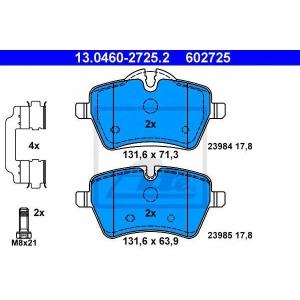 ATE 13.0460-2725.2 Комплект тормозных колодок, дисковый тормоз Мини