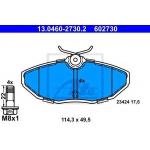 ATE 13046027302 Комплект тормозных колодок, дисковый тормоз