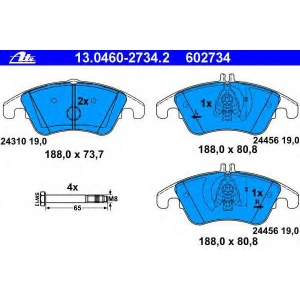 Комплект тормозных колодок, дисковый тормоз 13046027342 ate - MERCEDES-BENZ CLS (C218) купе 350 (218.359)